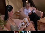 Отец ебет дочь жена смотрит